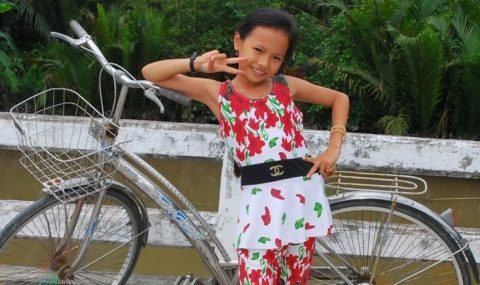Fietsen in veranderd Vietnam